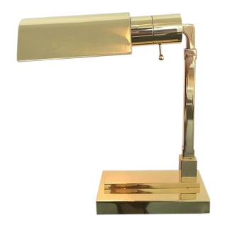 Polished Brass Desk Lamp by Casella For Sale