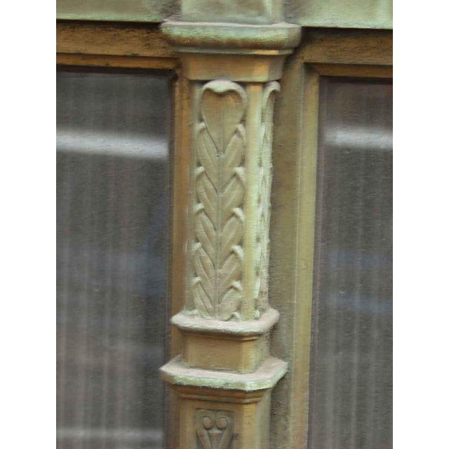 Ornate Bronze Palladian Window Transom For Sale - Image 6 of 10