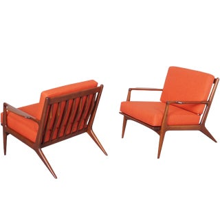 Danish Lounge Chairs by Ib Kofod Larsen For Sale