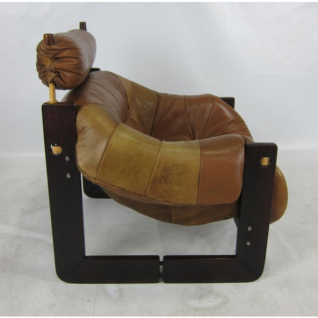 Animal Skin Rosewood Lounge Chair by Percival Lafer For Sale - Image 7 of 7