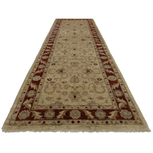 "RugsinDallas Peshawar Hand-Knotted Wool Runner - 2'7"" X 8'1"" For Sale"