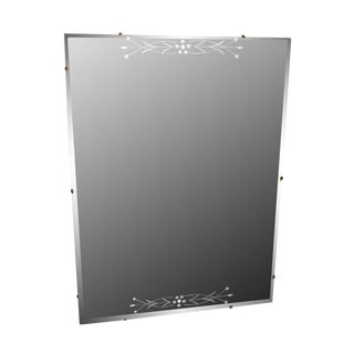 Rectangular Etched Glass Frameless Mirror For Sale
