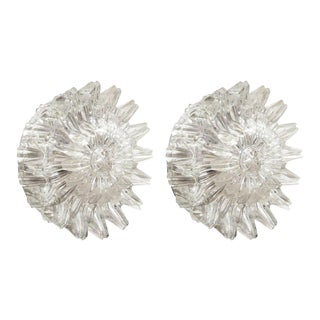 Mid-Century Starburst Glass Sconces - A Pair For Sale