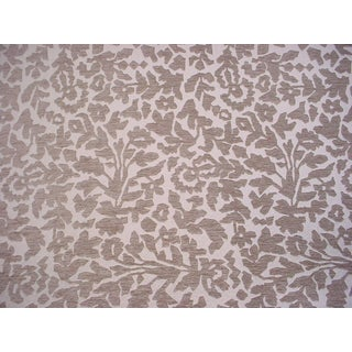 4y Robert Allen Duralee 255883 Frangia Bk Linen Floral Drapery Upholstery Fabric For Sale