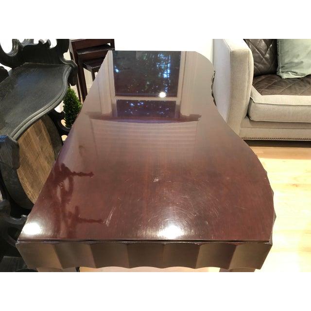 Barbara Barry Barbara Barry Baker Black Lacquered Desk For Sale - Image 4 of 8