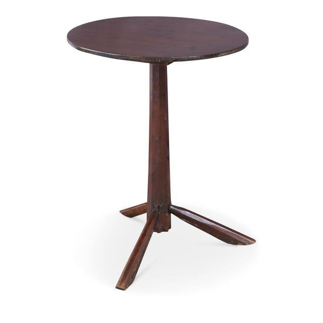 Brown Unconventional Vintage Side Table For Sale - Image 8 of 8