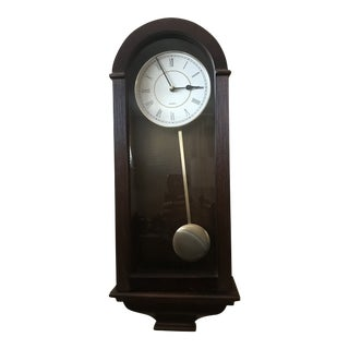 Vintage Rosewood Wall Clock For Sale