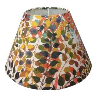 """Confetti Leaves 18"""" Coolie Lamp Shade in Ash Grey For Sale"""