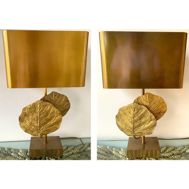Pair of Lamps Guadeloupe by Maison Charles, Bronze, 1970s, France For Sale - Image 13 of 13