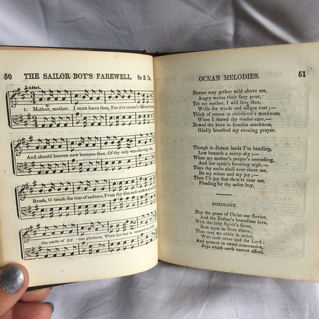 Paper Ocean Melodies and Seaman's Companion 1866 For Sale - Image 7 of 13