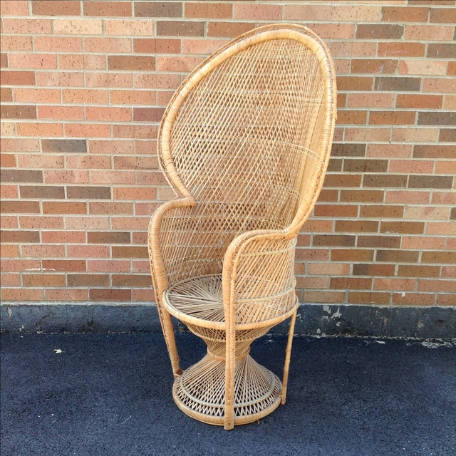 Vintage Rattan Peacock Chair - Image 3 of 9
