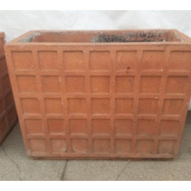 Contemporary Terracotta Italian Rectangular Planters - a Pair For Sale - Image 3 of 6