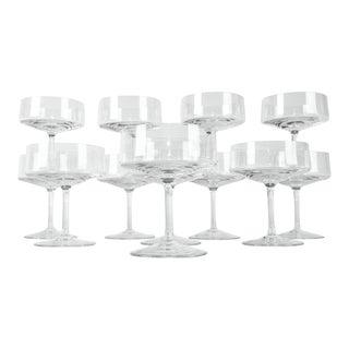 Vintage Set 12 Art Deco Crystal Glass