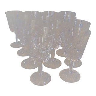 1960s Waterford Lismore Crystal Goblets - Set of 12 For Sale
