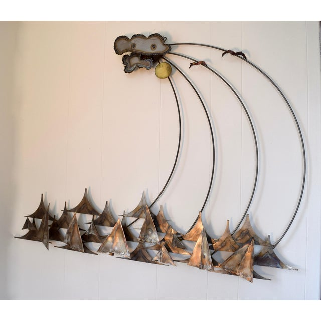 A.j. Stillman Mixed Metals Hanging Wall Sculpture For Sale - Image 4 of 6