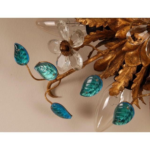 1970s Mid-Century Italian Murano Glass Sunburst Sconces, Venice - a Pair For Sale - Image 6 of 11