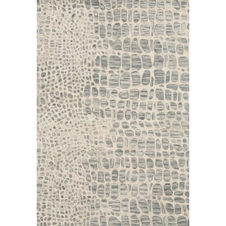"""Loloi Rugs Masai Rug, Silver Gray / Ivory - 5'0""""x7'6"""" For Sale"""