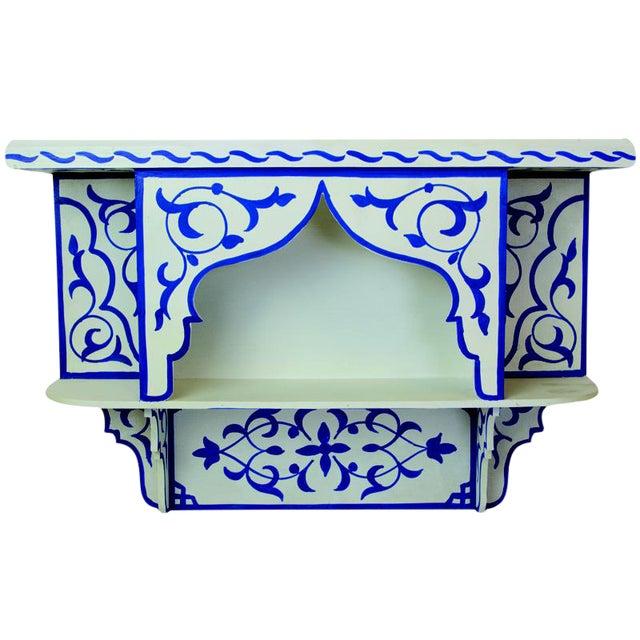 Bleu Majorelle on White Wall Shelf For Sale
