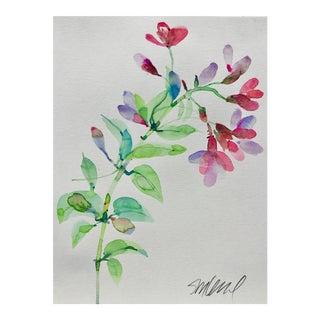 "Botanical 41, Original Watercolor, 9x12"" For Sale"