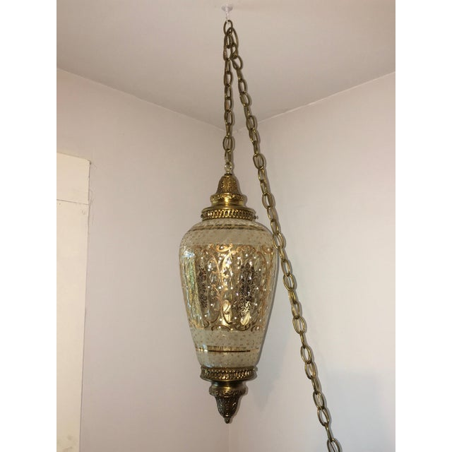8dc891da24bf Mid-Century Hollywood Regency Brass Hanging Pendant Light For Sale - Image  12 of 12