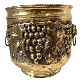 Mid 20th Century Brass Planter For Sale