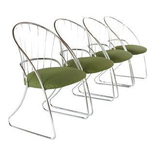Mid Century Modern Daystrom Chrome Dining Chairs- Set of 4 For Sale