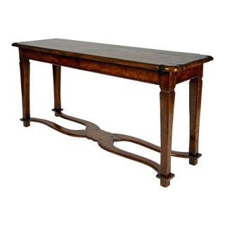Charles Pollock - Rustic Tuscan Italian Walnut Console Table For Sale