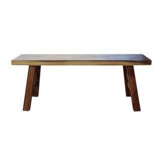 Oriental Zen Natural Wood Double Seat Plank Bench