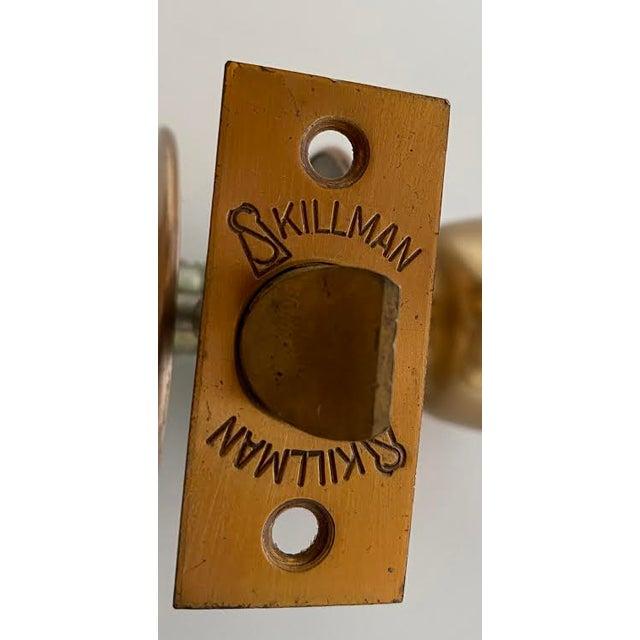 1960s 1960s Mid-Century Modern Satin Bronze Skillman Passage Doorset For Sale - Image 5 of 8