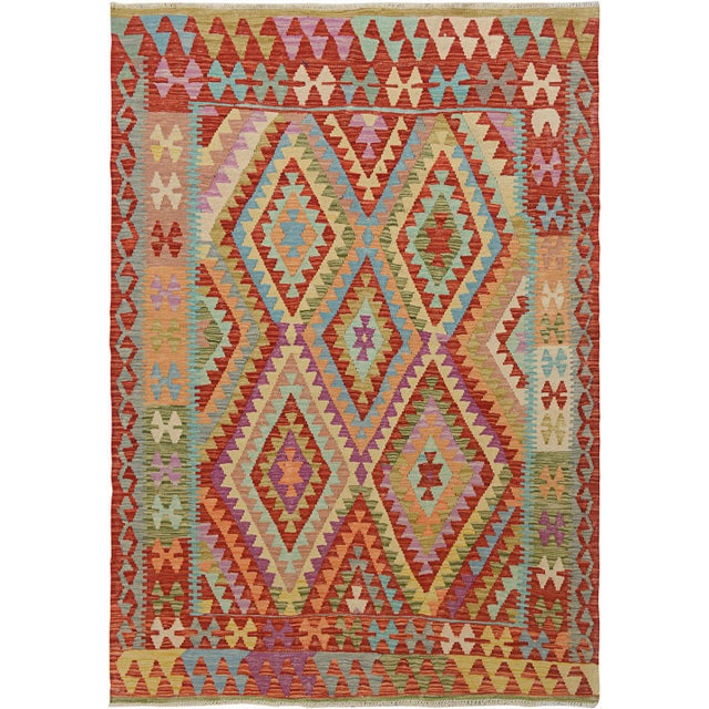 """Traditional Hand Knotted Traditional Design Wool Uzbek Rug. 5'1"""" X 6'2"""" For Sale - Image 3 of 3"""