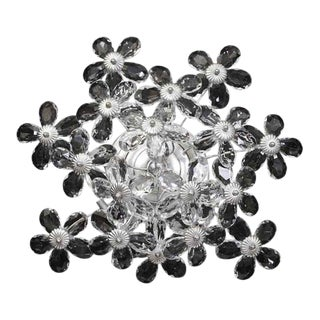 Lily Crystal Cluster Flush Mount Fixture