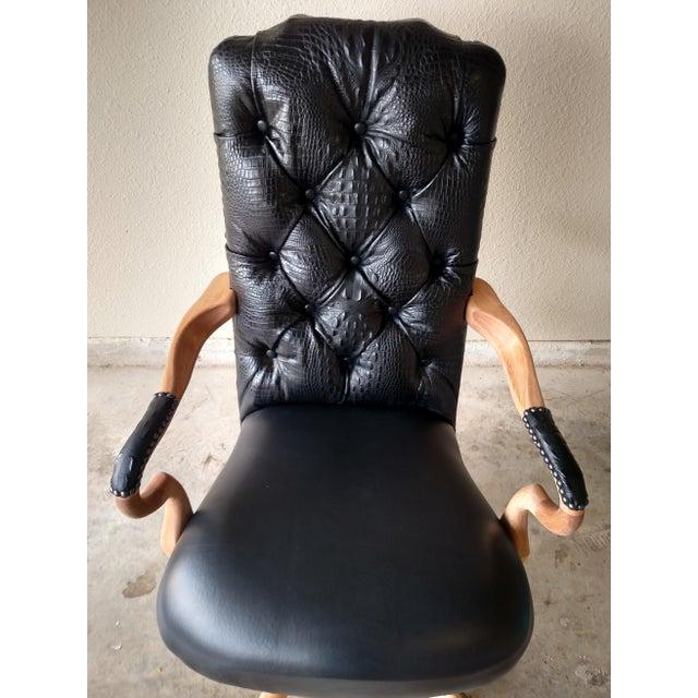 Black Lambskin Detroit Johnny Chair - Image 3 of 6