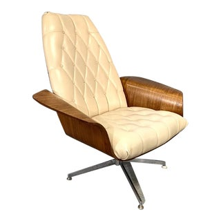 "Plycraft Mid-Century Modern Teak ""Mr. Chair"" Lounge Chair by George Mulhauser For Sale"