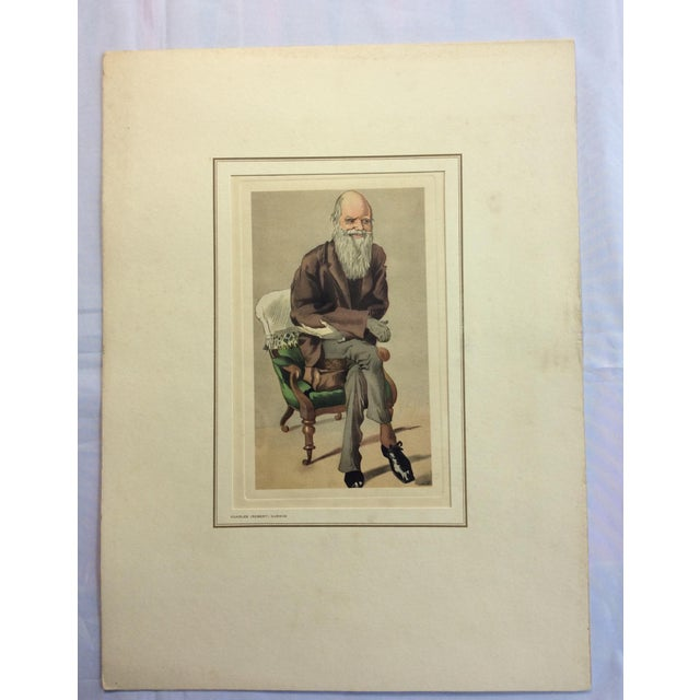 Boho Chic Vanity Fair Prints of Scientists for Petrolagar Laboratories - Set of 7 For Sale - Image 3 of 10