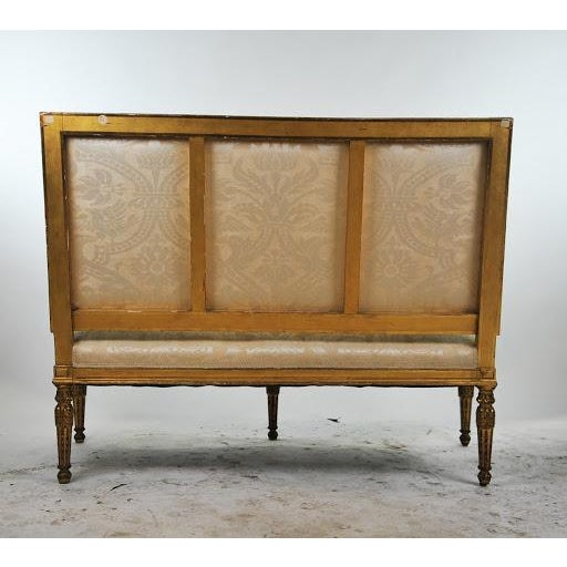 Louis XVI Gilded Settee For Sale - Image 5 of 11