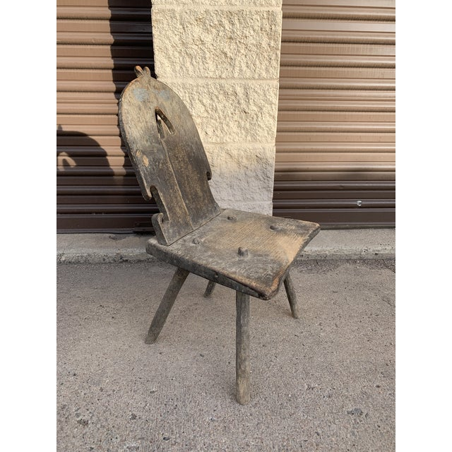 Mid 18th Century Rustic Bavarian Childs Chair For Sale - Image 10 of 10