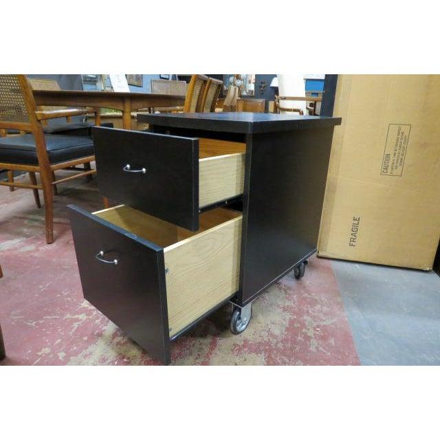 Industrial Vintage Industrial 2 Drawer Black Laminate File Cabinet For Sale - Image 3 of 6