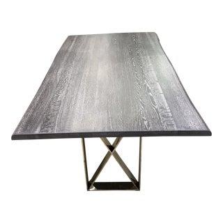 Live Edge Grey Oxidized Oak Nuevo Dining Table