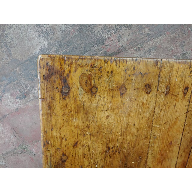 19th Century English Walnut Farm Coffee Table For Sale - Image 9 of 10