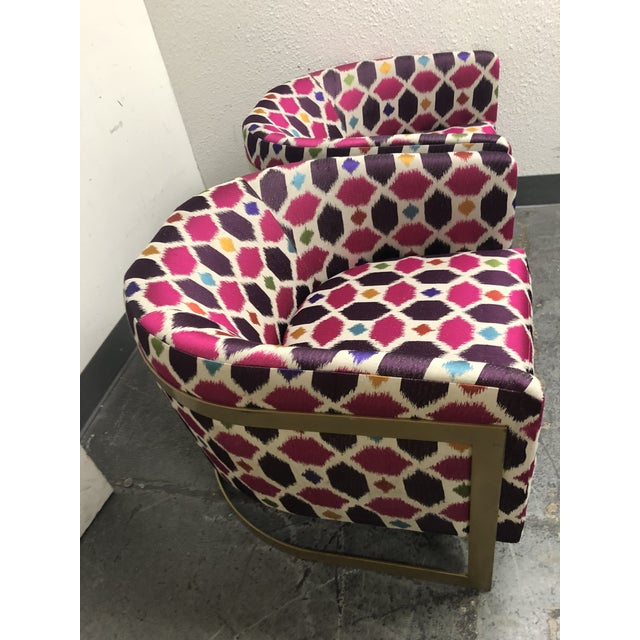 Nathan Anthony Korz Chair by Tina Nicole + Kravet Fabric - a Pair For Sale In San Francisco - Image 6 of 13