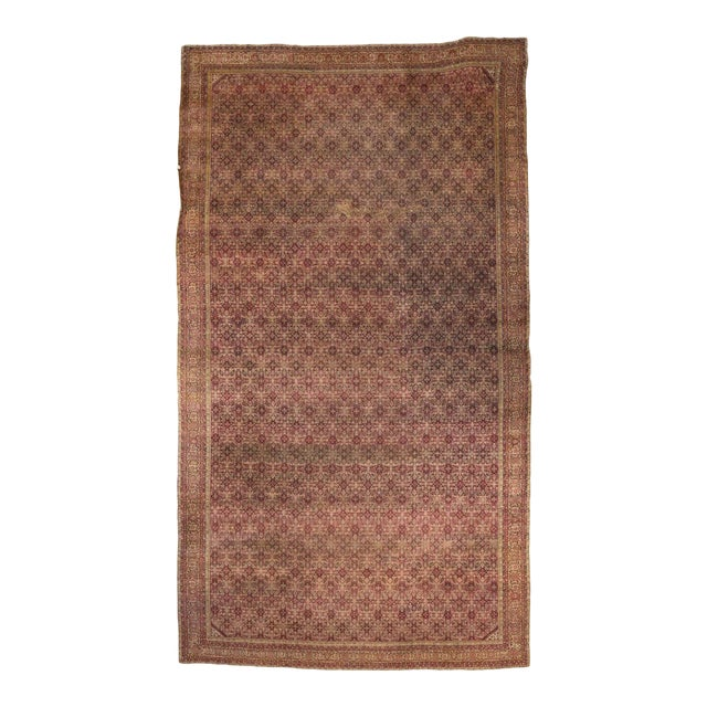 Antique Indian Agra Gallery Rug with Modern Style For Sale