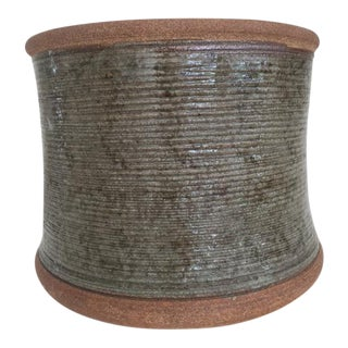 Vintage Textured Pottery Planter
