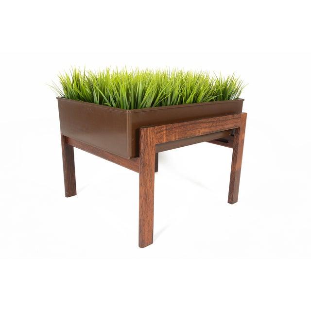 Danish Modern Rosewood Framed Planter - Image 4 of 5