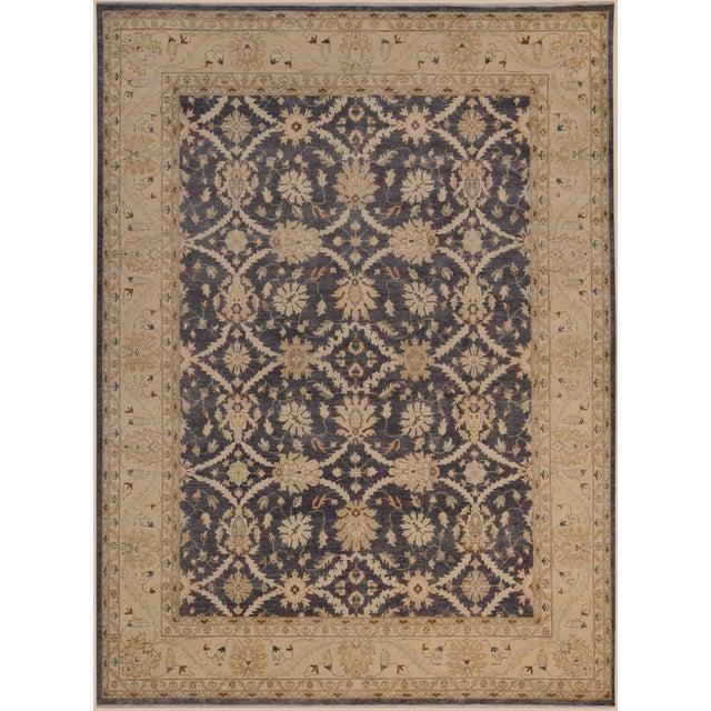 Brown Kafkaz Peshawar Adena Charcoal/Tan Hand-Knotted Rug - 11'10 X 15'1 For Sale - Image 8 of 8