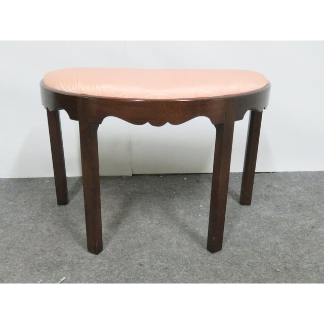 Madison Square Chippendale Mahogany Vanity Bench For Sale In Philadelphia - Image 6 of 6