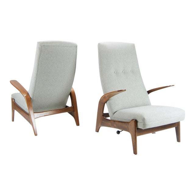 """Adolf Relling and Rolf Rastad """"Rock N Rest"""" Armchairs - a Pair For Sale"""