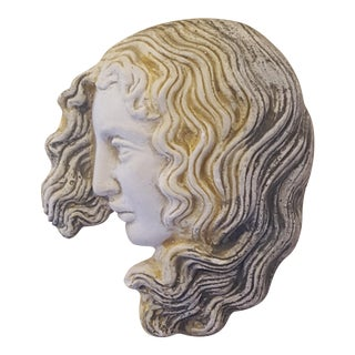 Small Art Nouveau Chalkware Woman
