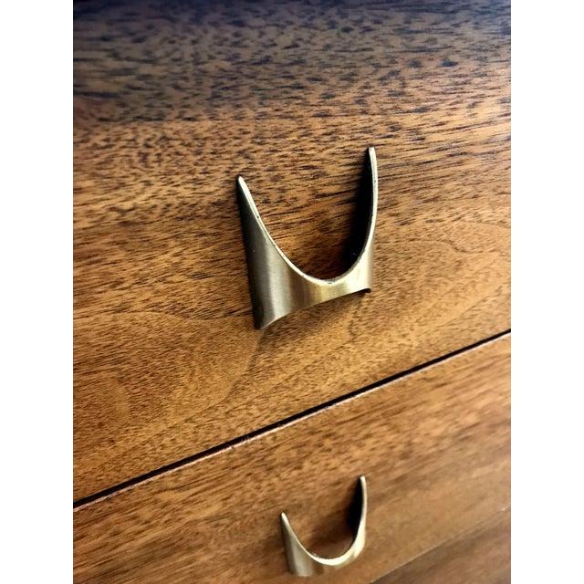 Brown Broyhill Brasilia Mid Century Modern 9 Drawer Dresser For Sale - Image 8 of 9