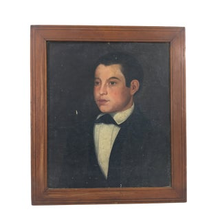 French Painting of a Young Man. For Sale
