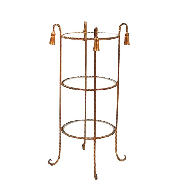 20th Century Maison Bagues Tassel Rope 3 Tier Table Last Markdown For Sale